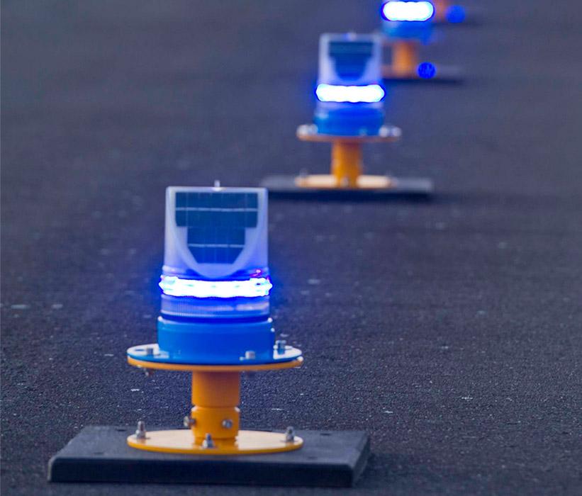 Solar Taxiway Lighting