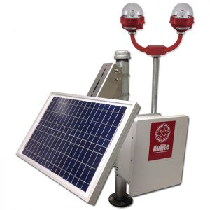 Solar Power System for FAA L-810 Single or Dual Obstruction Light