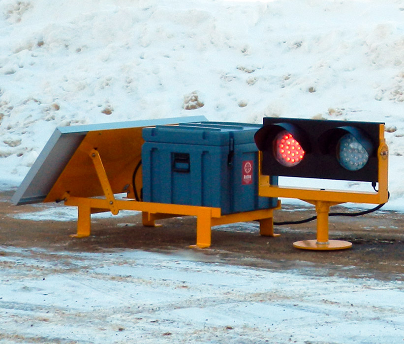 Solar LED Elevated Runway Guard Light