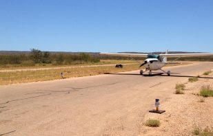 Airport Lighting AV-70-HI Runway edge light at Exmouth Aerodrome WA