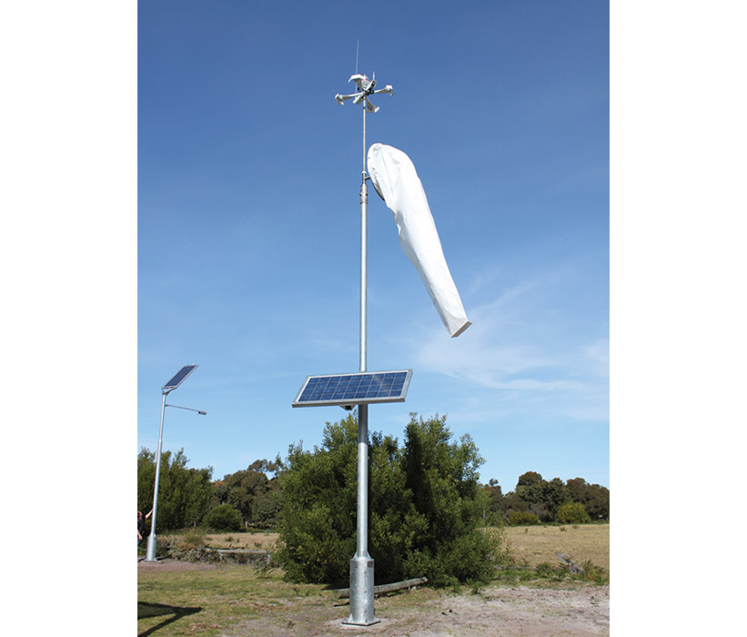Solar Lighted Windsock Assembly Avlite Systems